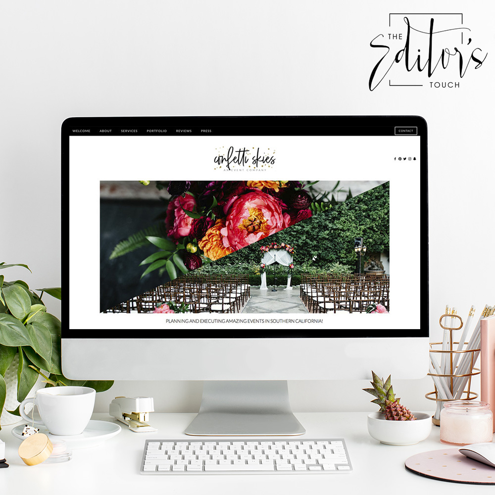 Website Designer For Wedding Professionals | Squarespace Website Design by The Editor's Touch