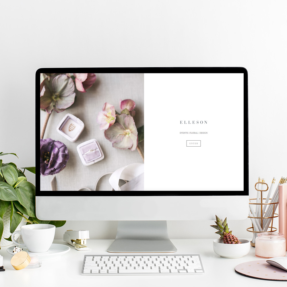 Website Design for Elleson Events | The Editor's Touch