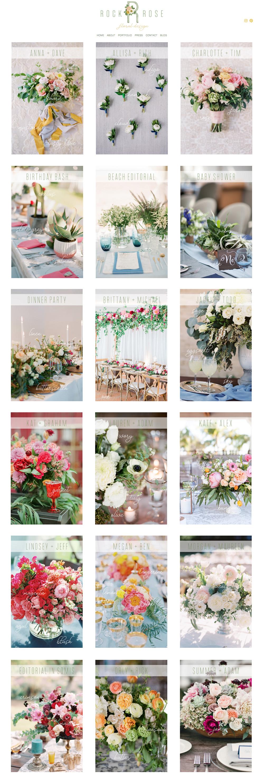 Squarespace Website Designer | Rockrose Floral | Wedding Industry Experts
