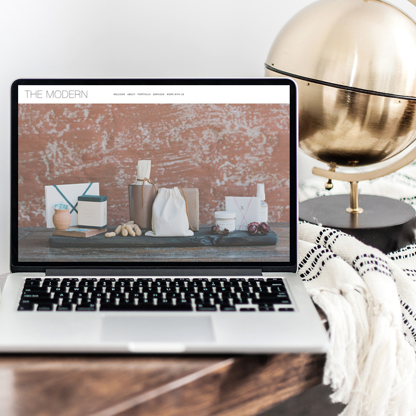 Modern Website Styles For Squarespace | Semi Custom Web Design | The Editor's Touch