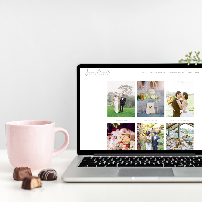 Website Designer for Janae Shields Photography | The Editor's Touch
