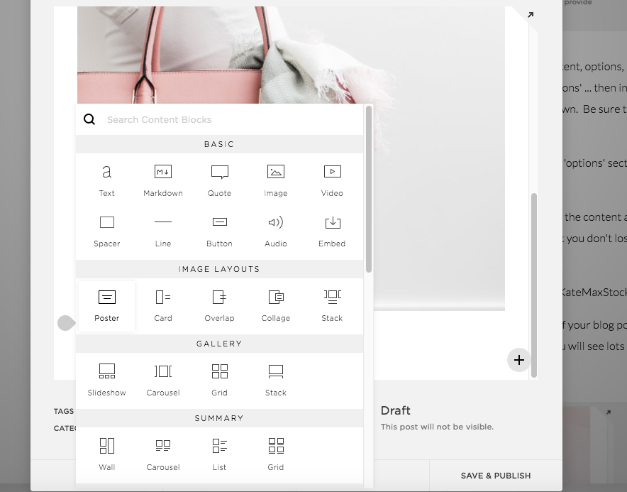 Blog Post Options Using Squarespace | The Editor's Touch