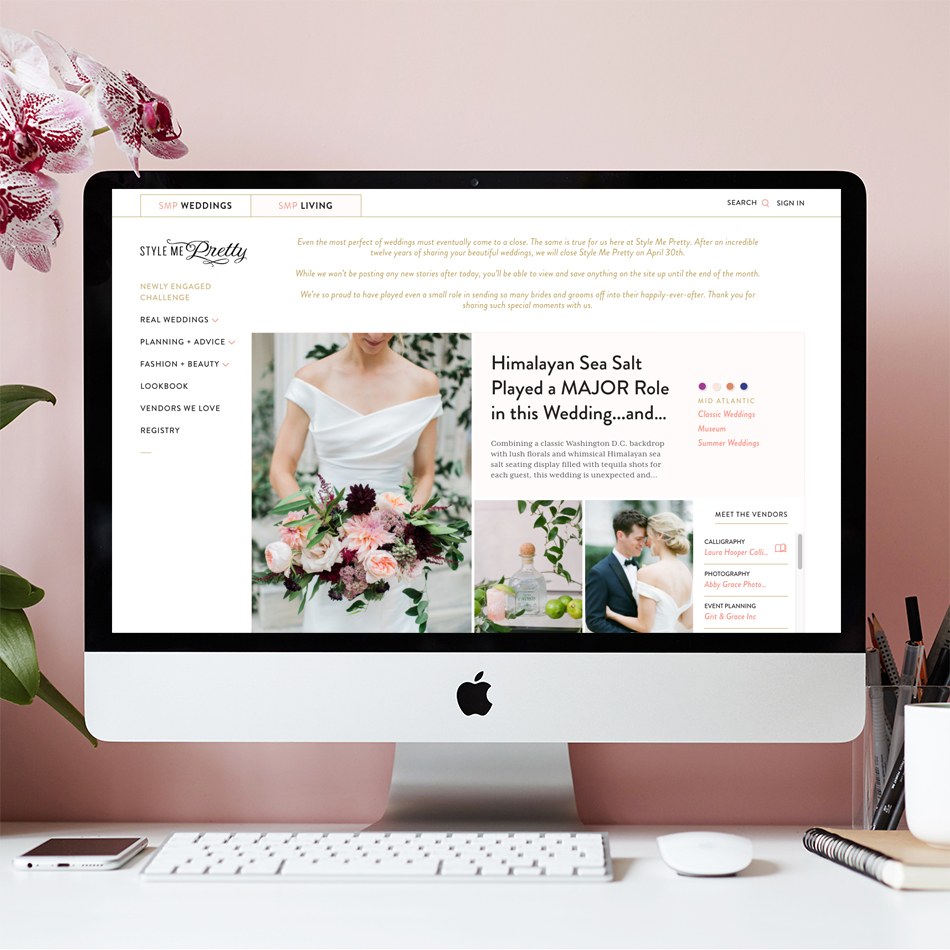 Style Me Pretty Closing Their Website