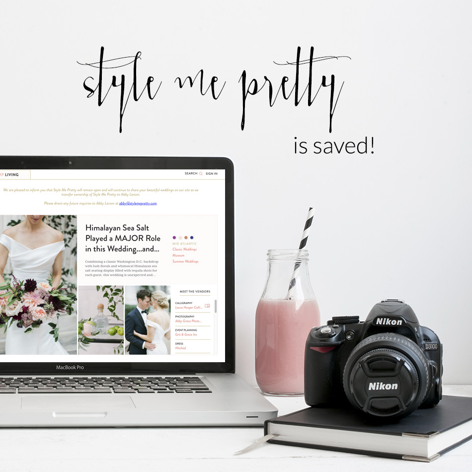Style Me Pretty Is Bought Again by Abby Larson and Tait | The Editor's Touch
