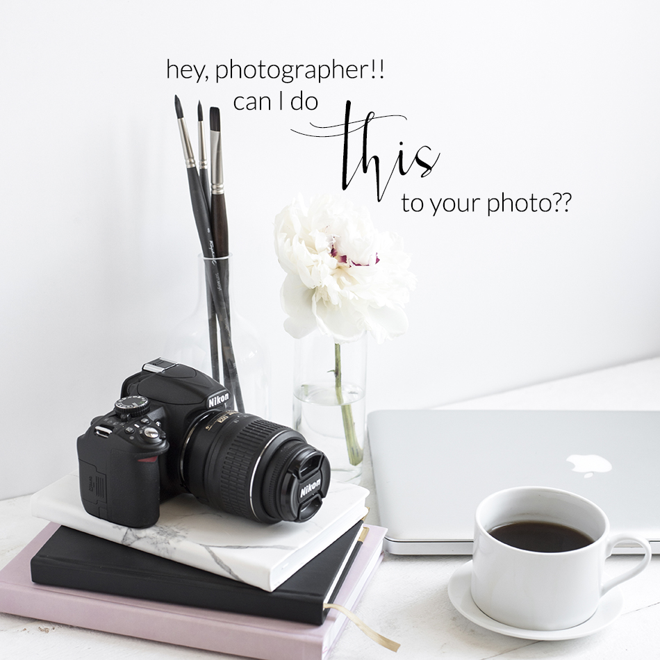 Etiquette When You Have Professional Photographs | The Editor's Touch