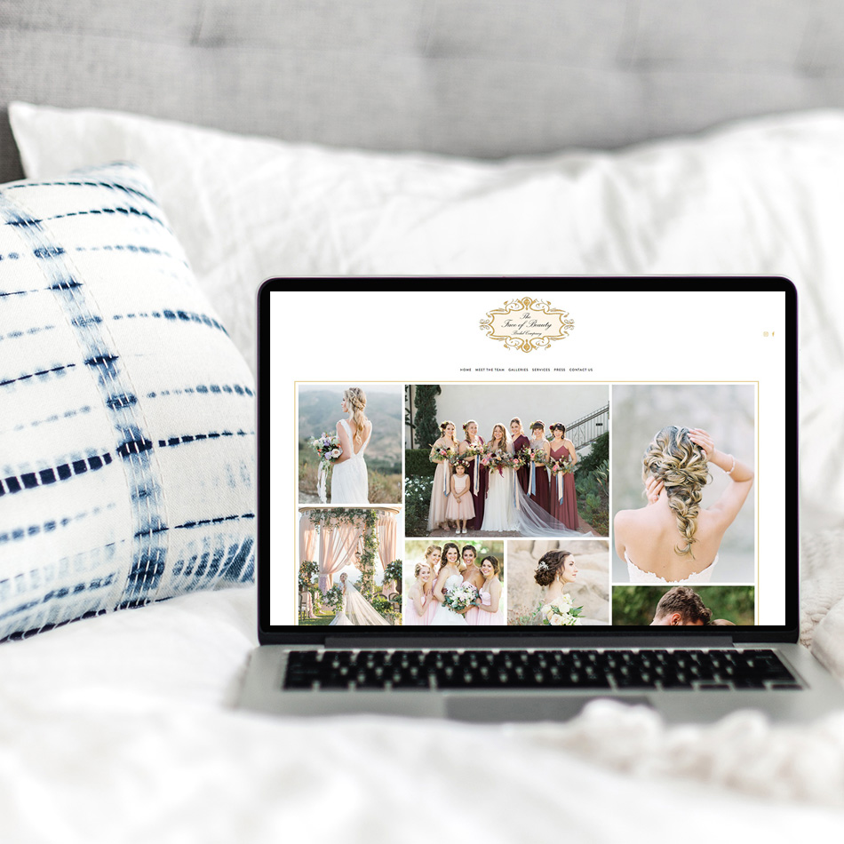 The Face Of Beauty Website | The Editor's Touch Web Designer for Wedding Professionals | Squarespace Custom Websites