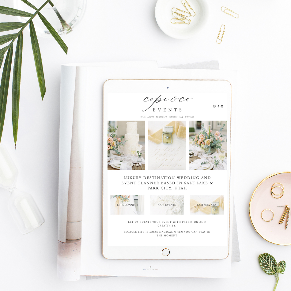 theeditorstouch.com | Semi Custom Website Design For Wedding and Event Professionals and Creatives | The Editor's Touch Squarespace Web Designer