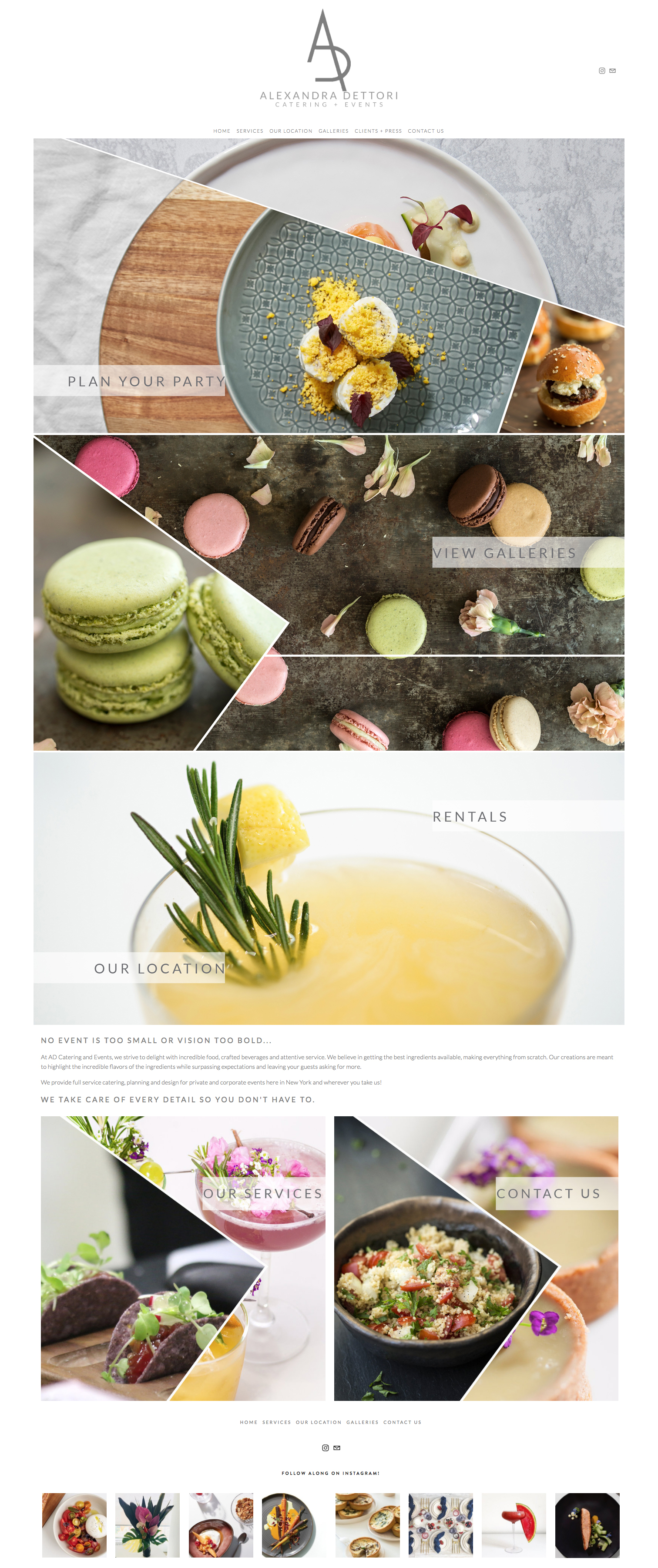 Squarespace Website Designer For Catering Companies | Event Professionals Industry Creative | The Editor's Touch