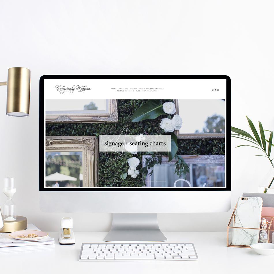 Website Design For Calligraphy Katrina | Squarespace Web Designer