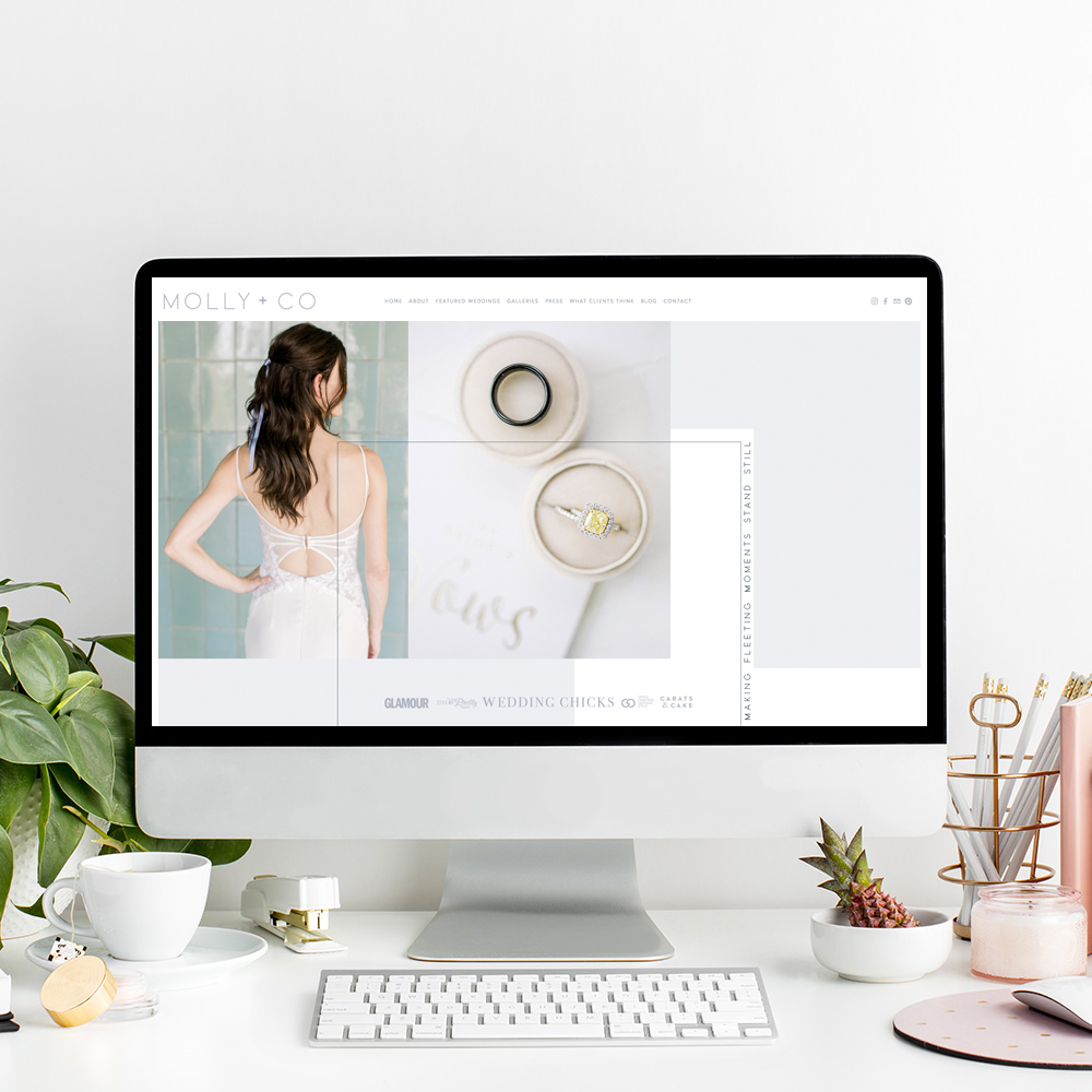 Website Designer For Wedding Photographers | The Editor's Touch Squarespace Web Design