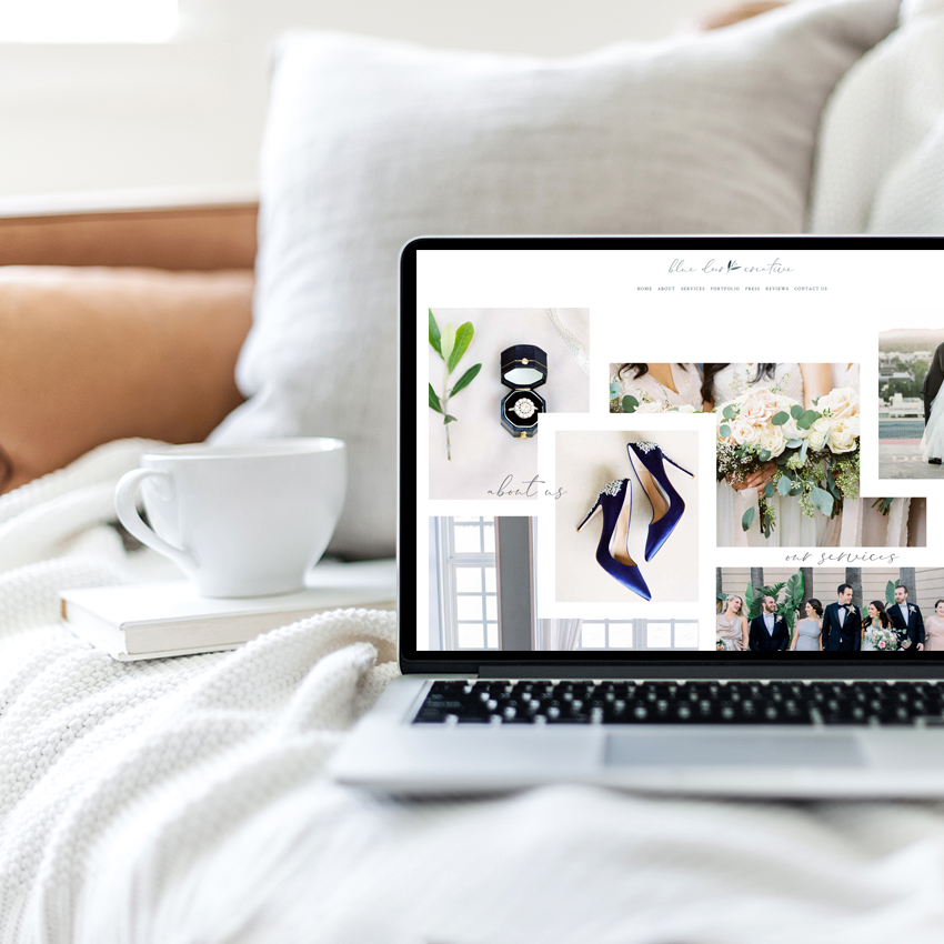 Semi Custom Website Design by The Editor's Touch | Squarespace Web Designer For Wedding and Event Industry Professionals