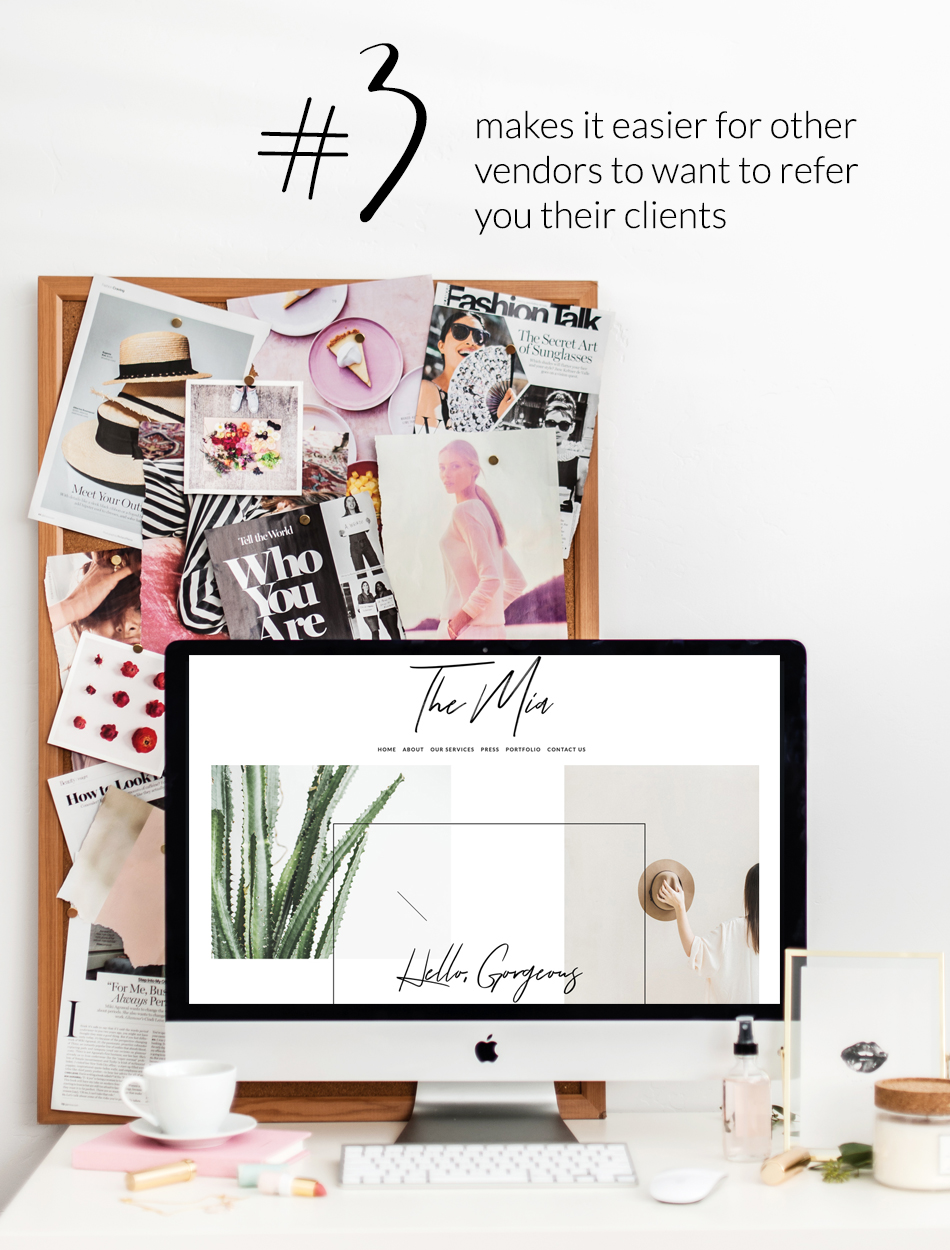 A Well Designed Website Creates Success For Your Company | Make Other Vendors Want To Refer Your Services To Their Clients or Friends | The Editor's Touch | Squarespace Web Designer