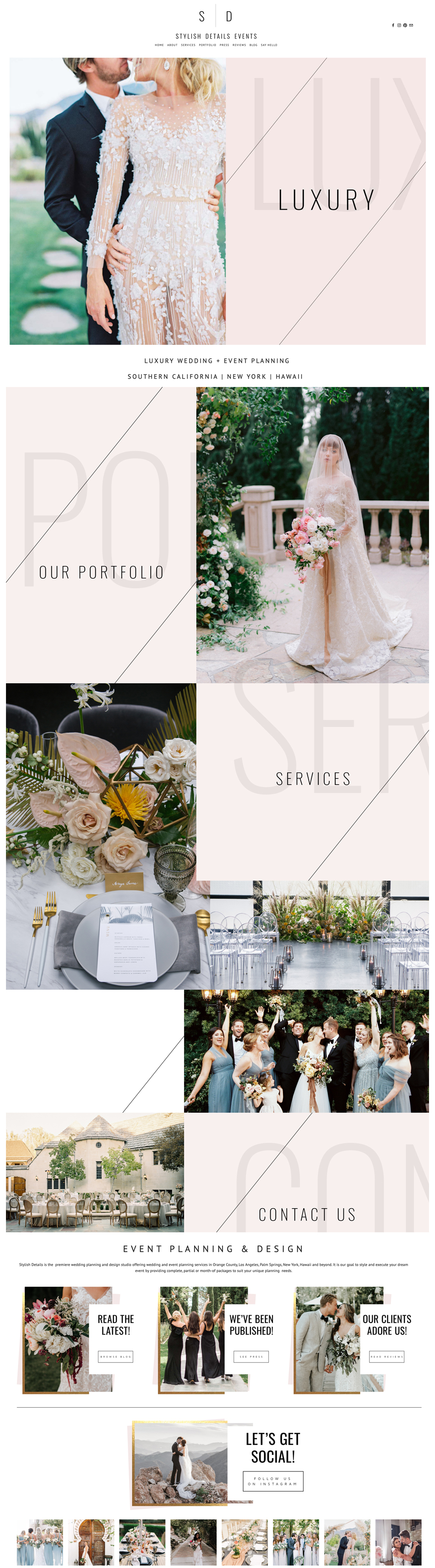 theeditorstouch.com | Luxury Squarespace Website Designer | The Editor's Touch | Wedding Planner Web Design | Stylish Details