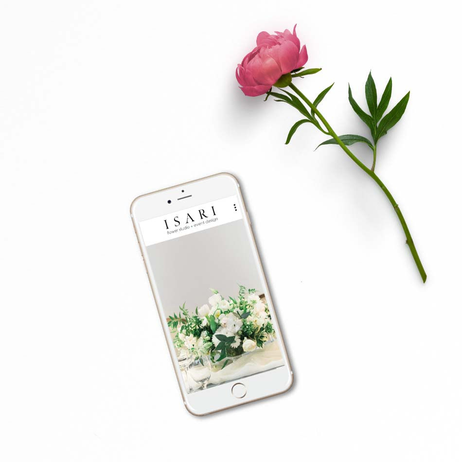 Isari Flower Studio Website | The Editor's Touch Squarespace Website Designer | Wedding Industry Expert