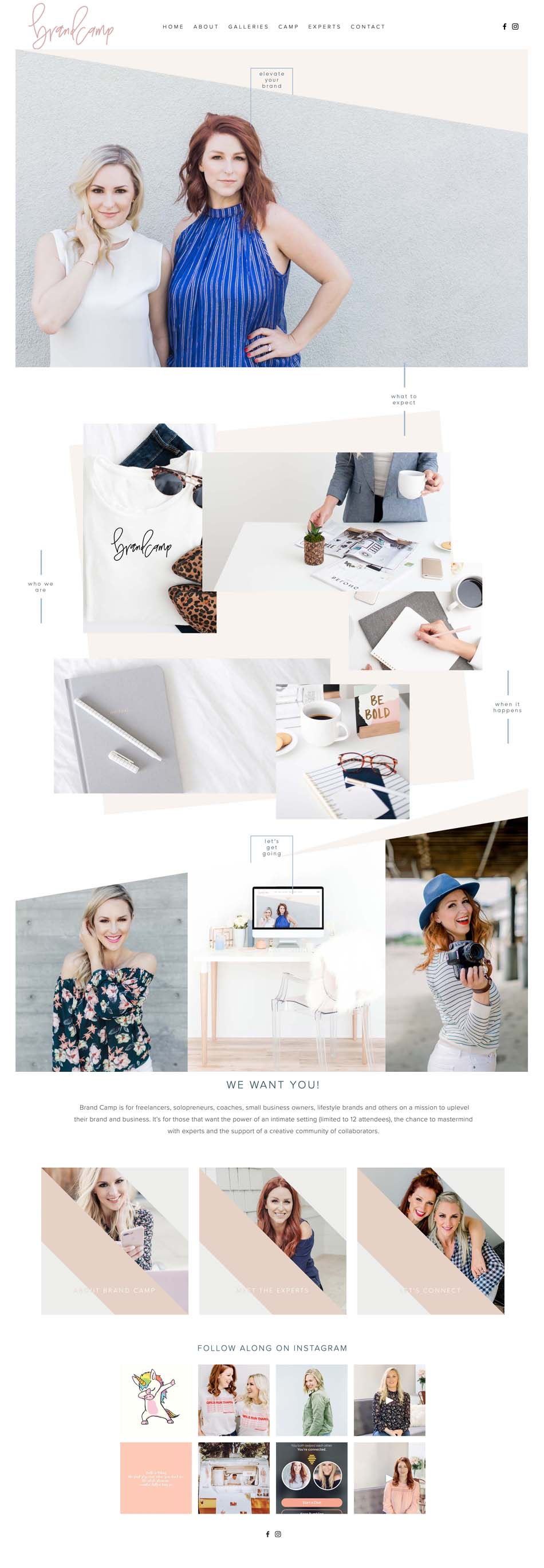 Brand Camp Website | The Editor's Touch Squarespace Website Designer | Lifestyle and Business Blogger