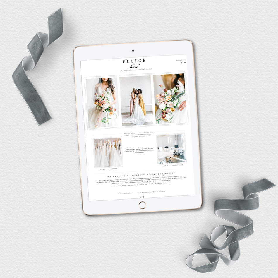 theeditorstouch.com | The Editor's Touch Squarespace Website Designer | Colorado Springs Wedding Dress Boutique Design