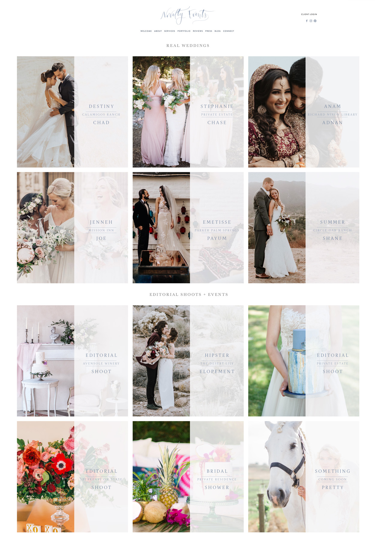 theeditorstouch.com | Website Design by The Editor's Touch | Squarespace Web Designer for Wedding Professionals and the Event Industry | Novelty Events Southern California Planner