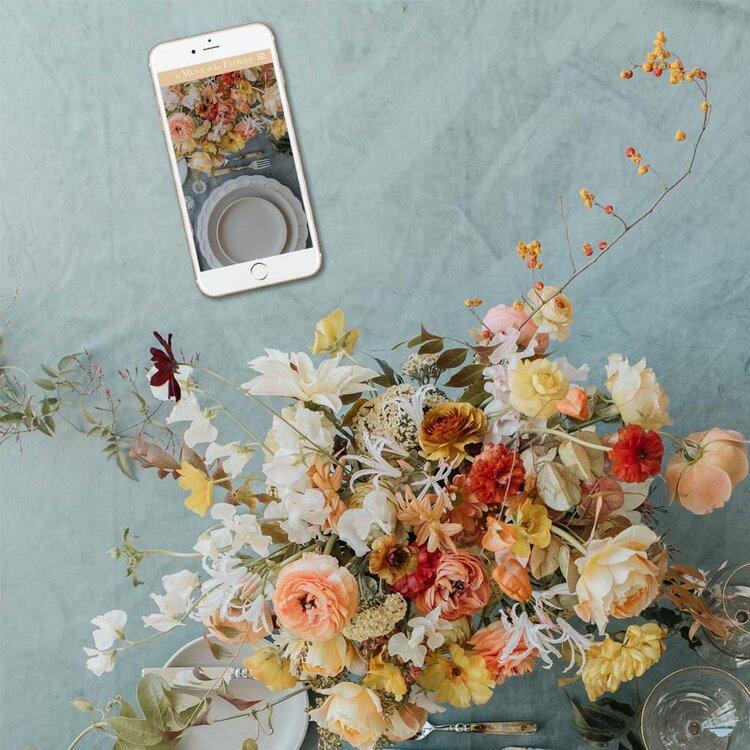 Squarespace Website Designers Wedding Industry | La Musa De Las Flores Classes and Workshops | The Editor's Touch