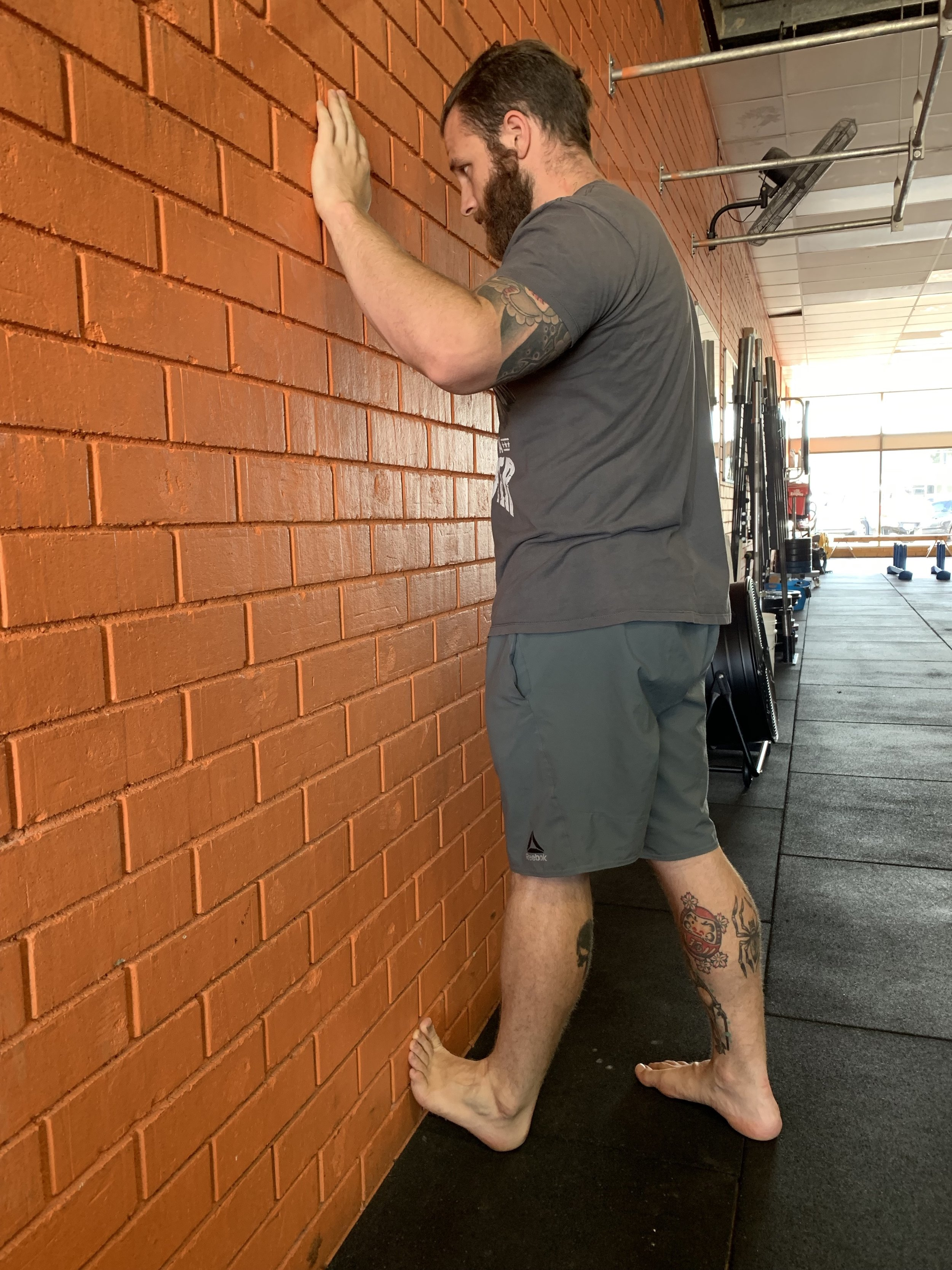 Stretching the gastrocnemius
