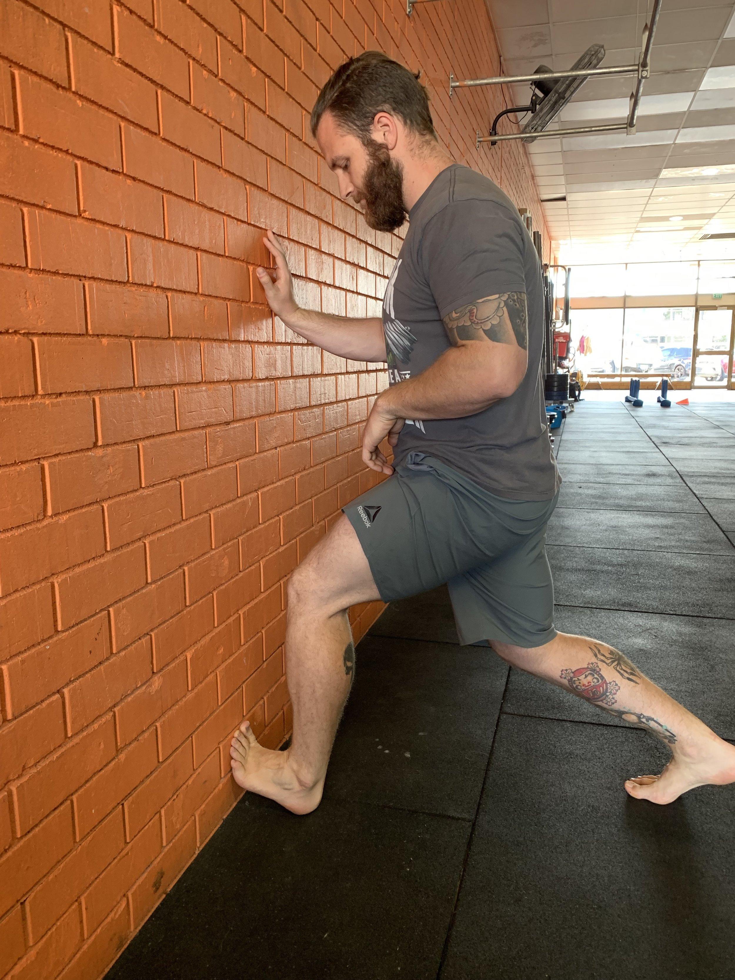 Stretching the soleus
