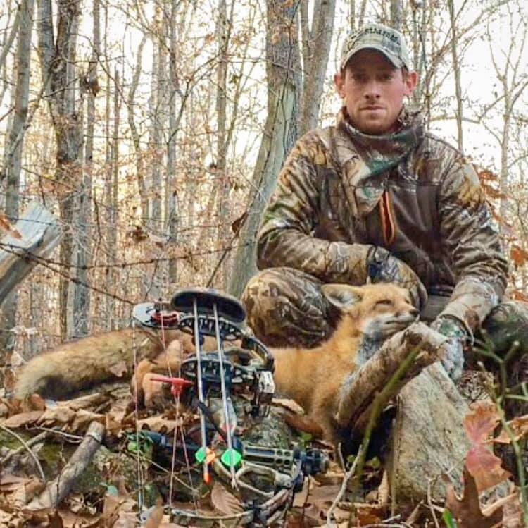 """Dominic Scheetz  """"I'm from Virginia and work up in Maryland for a general contractor. I love hunting but got a late start. I started bowhunting back in 2014 and now I'm addicted and hunt almost exclusively with a bow. Aside from hunting, I like to work with wood or take on various DIY projects, spend time at the lake in the summer, and hit the slopes on a snowboard during the winter."""""""