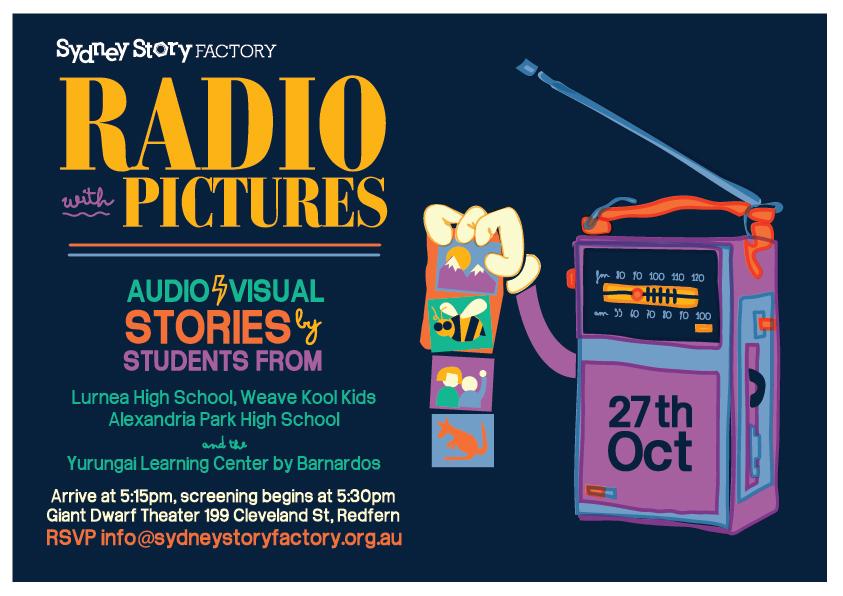 radio with pictures invite oct27-02