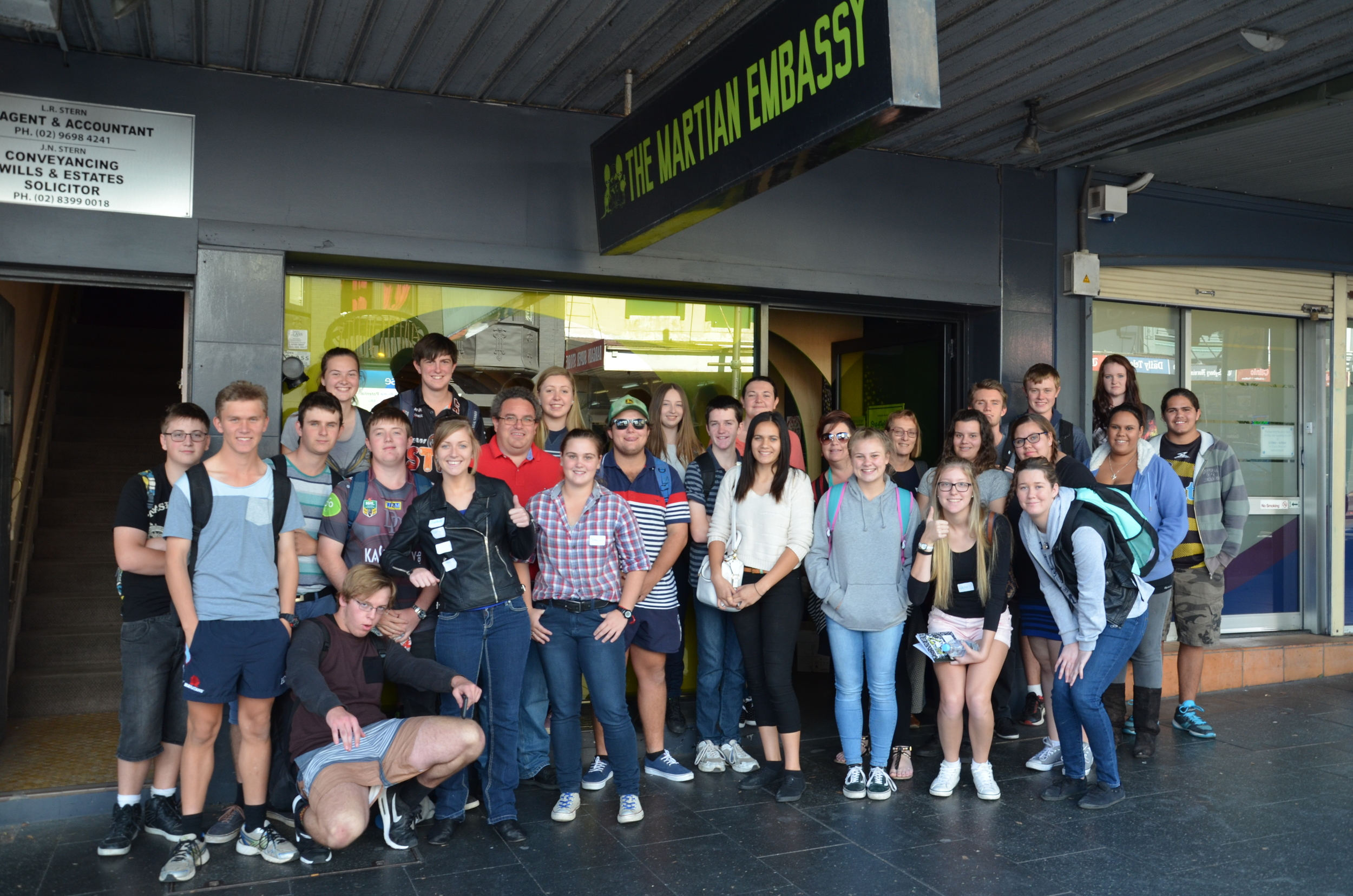 The Wee Waa group outside the Story Factory in Redfern. Looking good, Nathan.