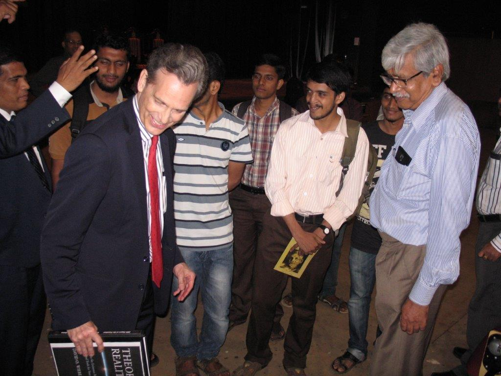 David Wiebers, M.D., at Mangalore University.