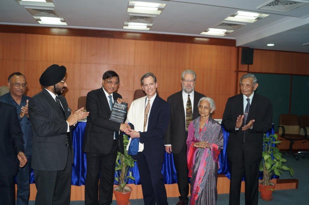 David Wiebers, M.D., awarded Honorary Professorship at Amity University by Amity Chancellor Dr. Ashok Chauhan on November 9, 2015.