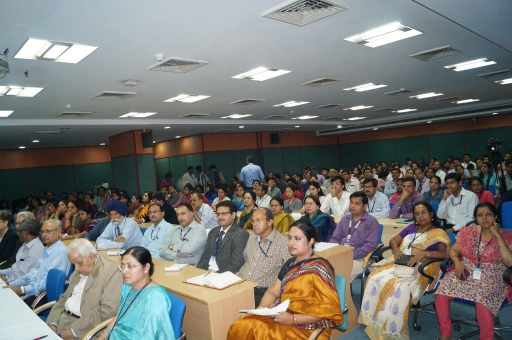 Audience members at Amity University Delhi campus during Theory of Reality presentation on November 9, 2015.