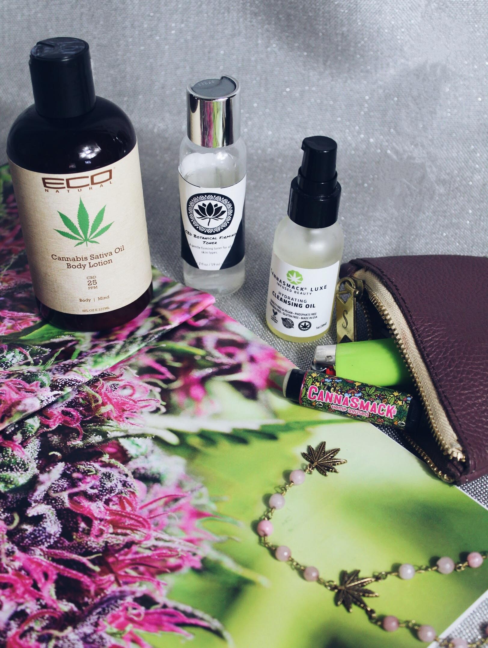 CBD and Hemp beauty products I love!