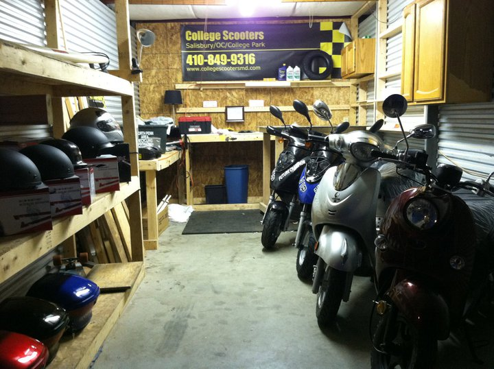 "A picture of John and Navid's first ""shop"": a 200 square foot storage garage on First Street in Ocean City, Maryland."