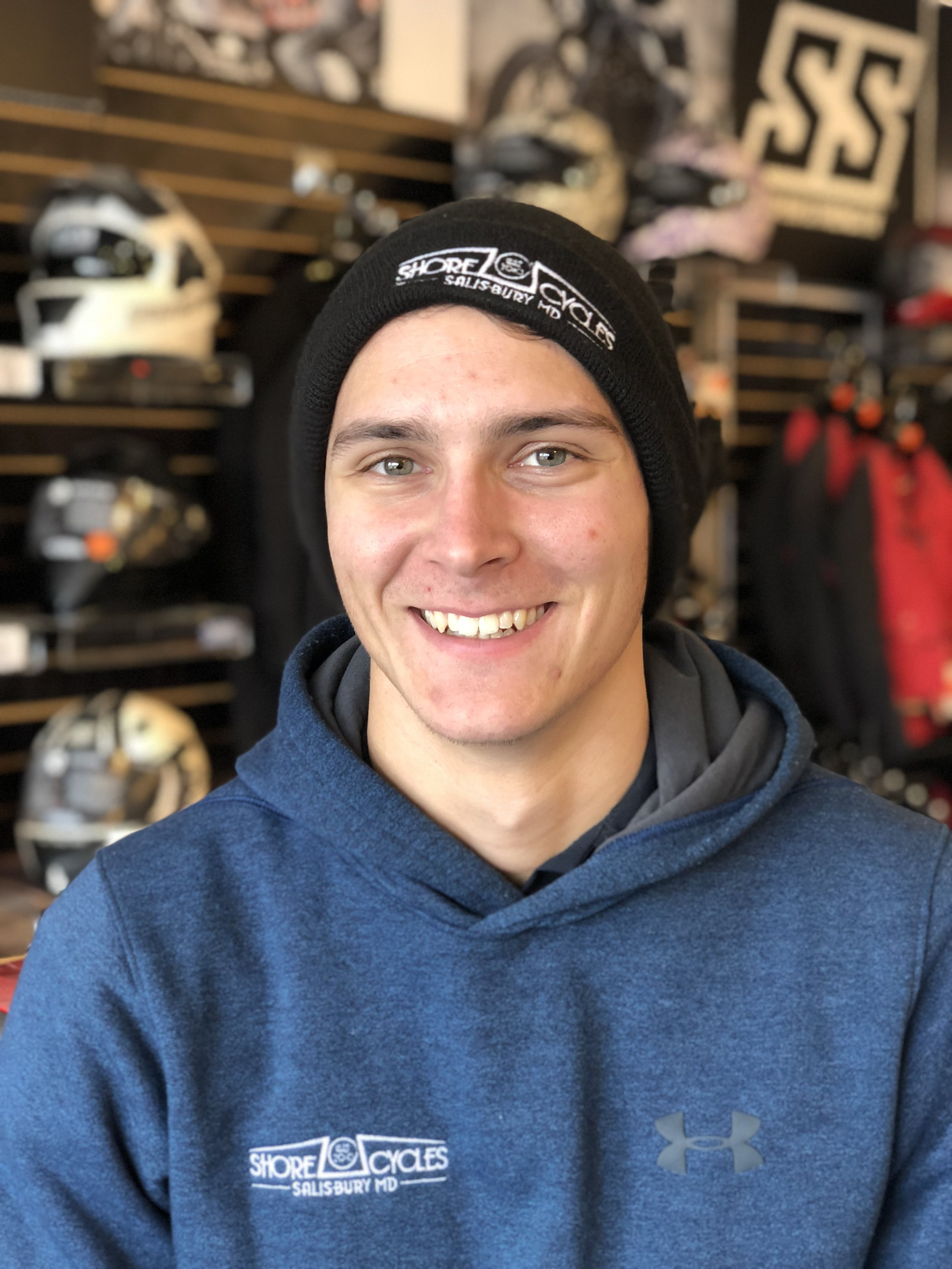 Alex Terlizzi , Motorcycle Tech   Rides : 1978 Honda CX500   Favorite Food : Possibly donuts