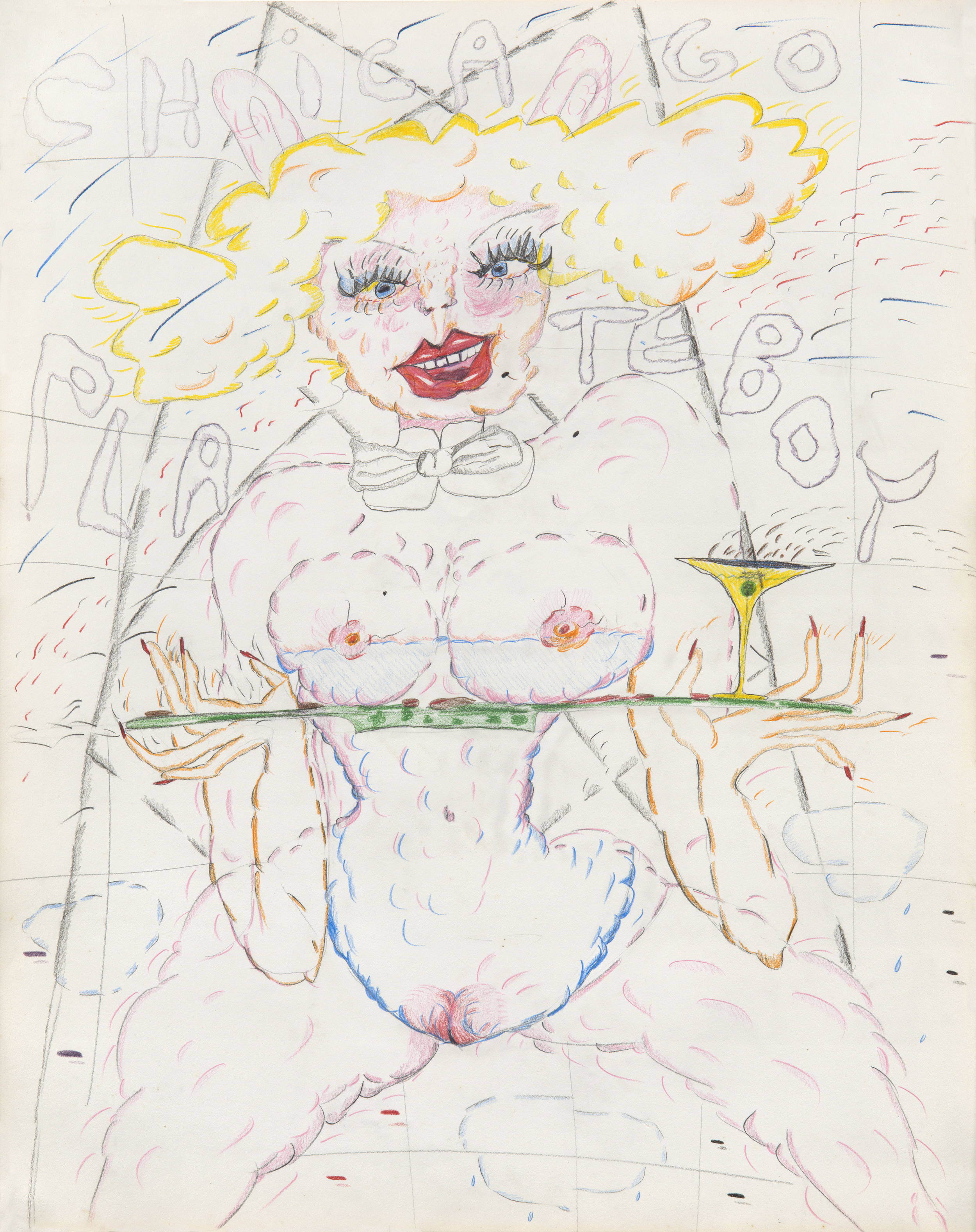 """Plate Boy Bunny Middle Age 29""""x23"""""""
