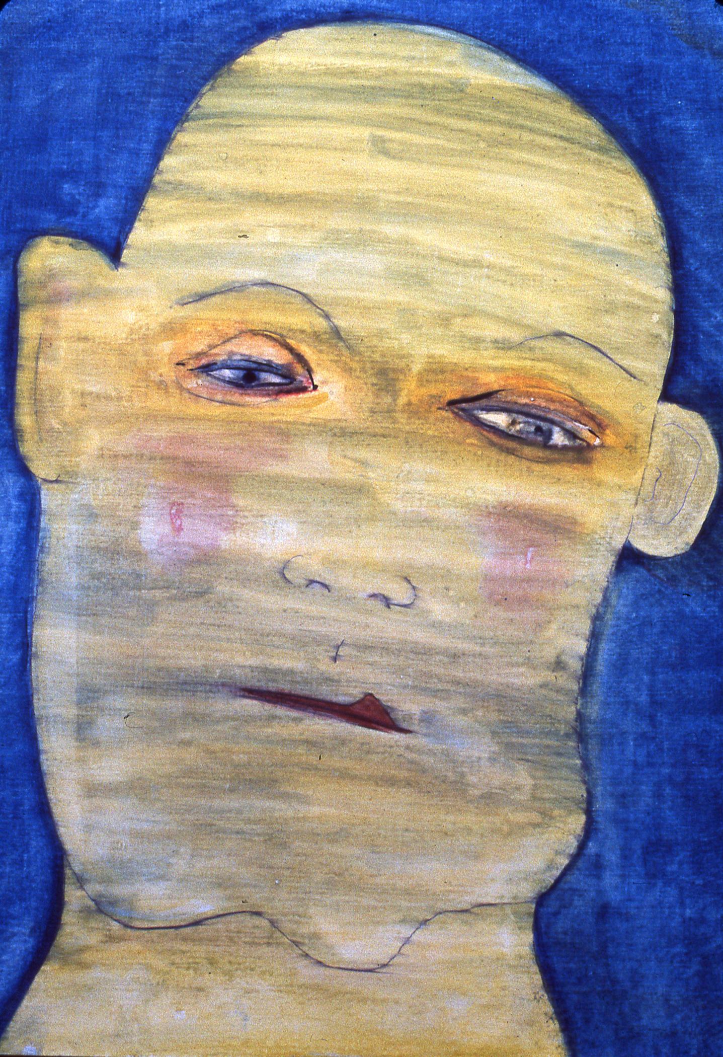 "Self Portrait , watercolor on gessoed paper  30""x23"""