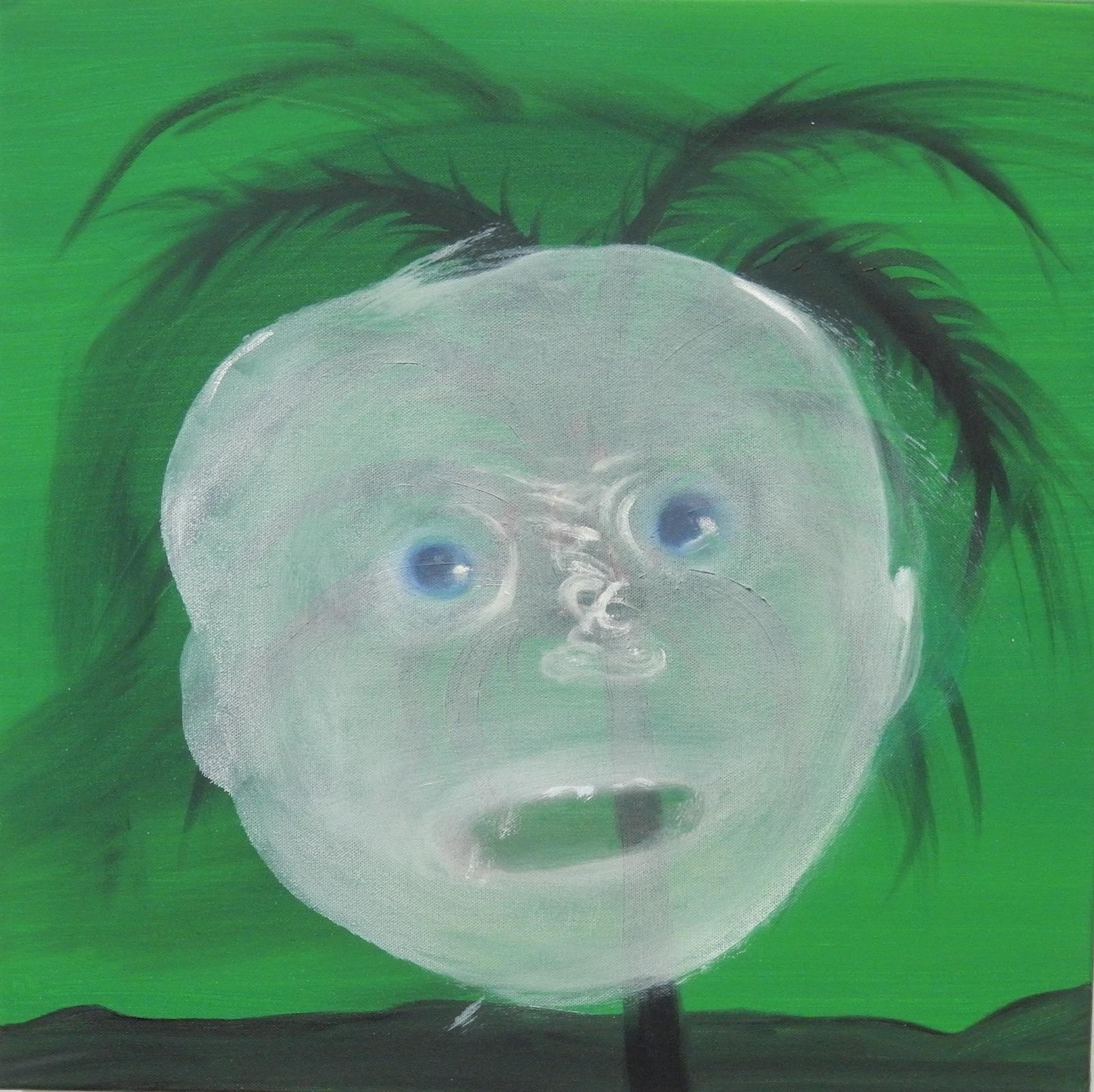 "Green Ghost  20""x20"""