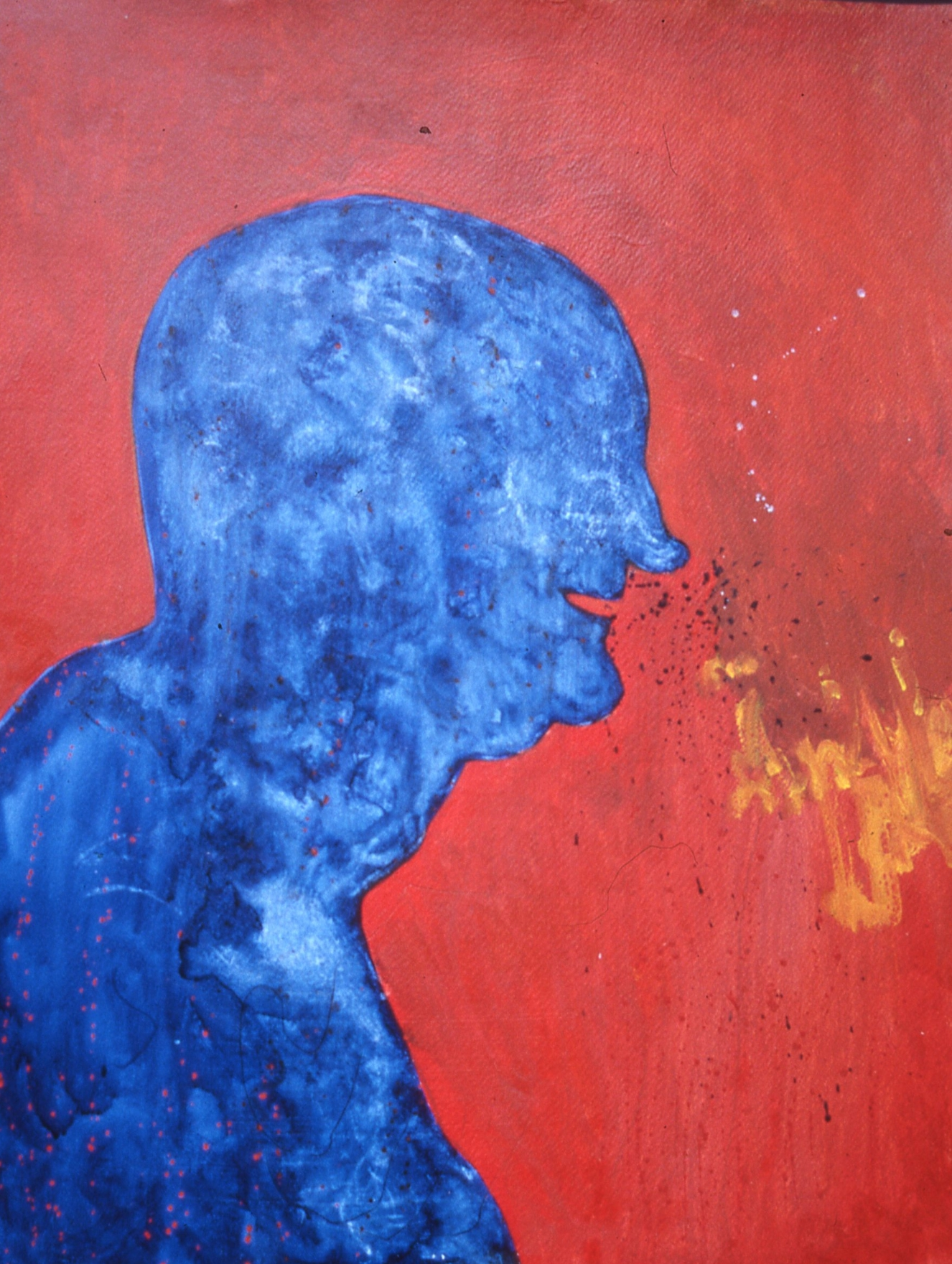 "Blue Self , watercolor  30""x 22"""