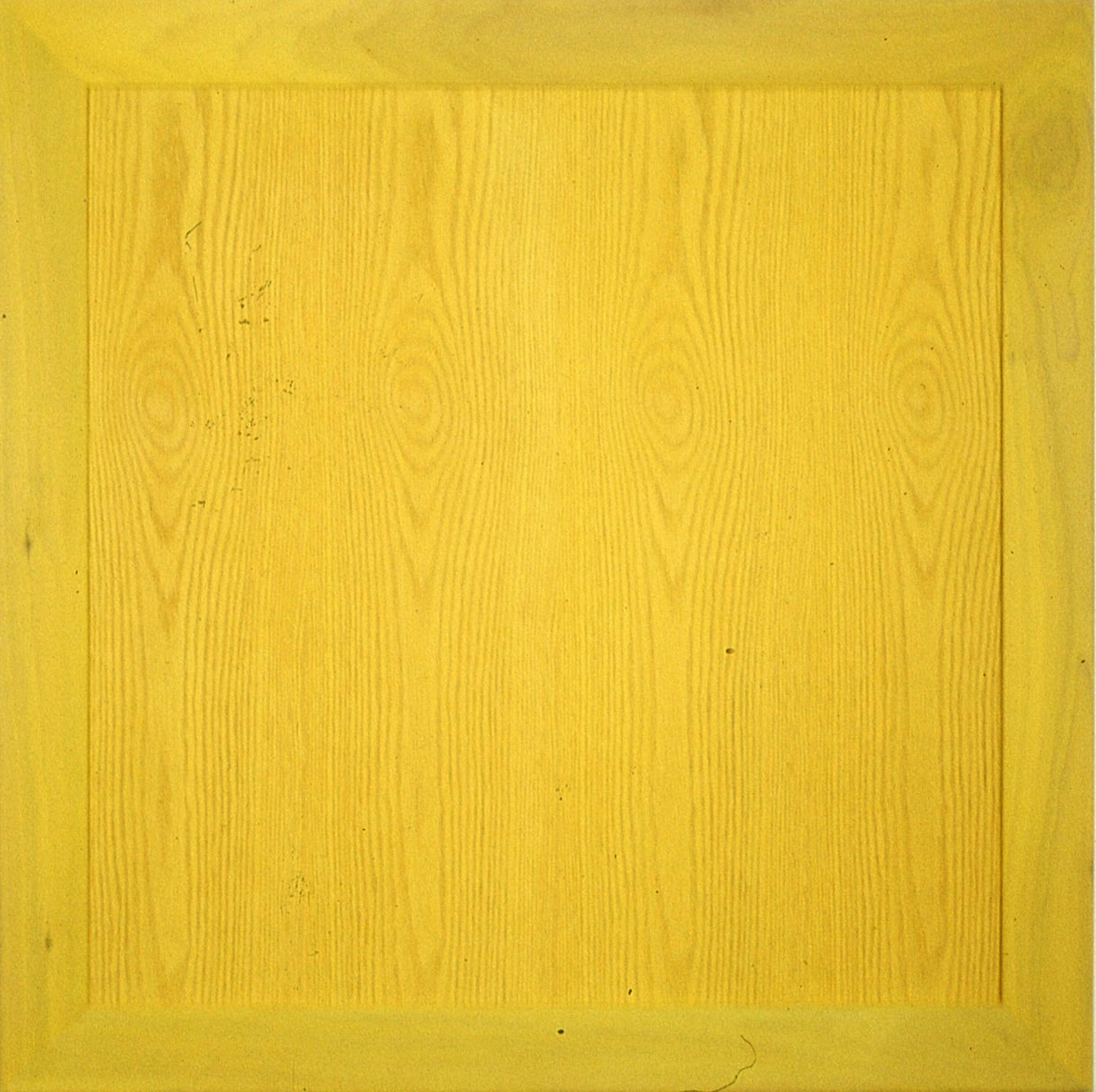 "Yellow     acrylic on wood  36"" x 36"""