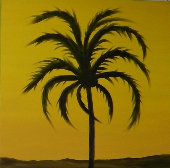 "Yellow Palm 20""x20"""