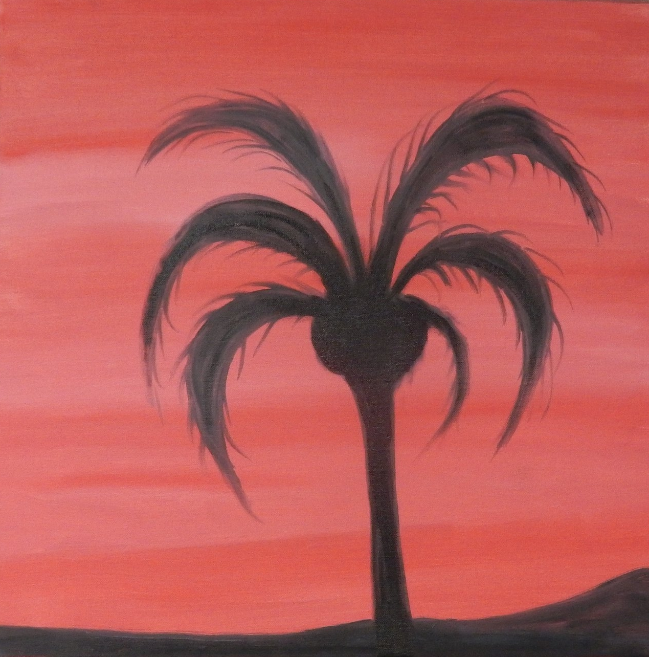 """Red Palm  20""""x20"""""""