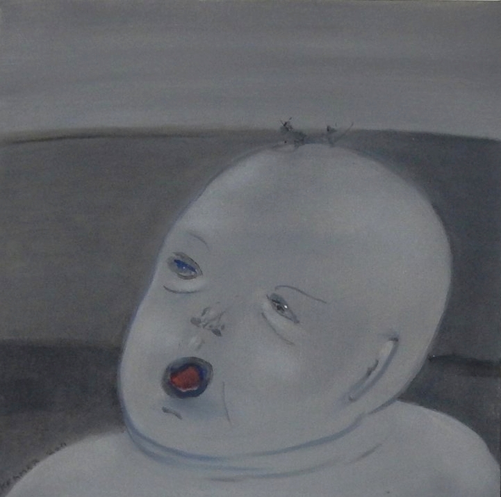 """Baby   20""""x20"""" oil on canvas"""