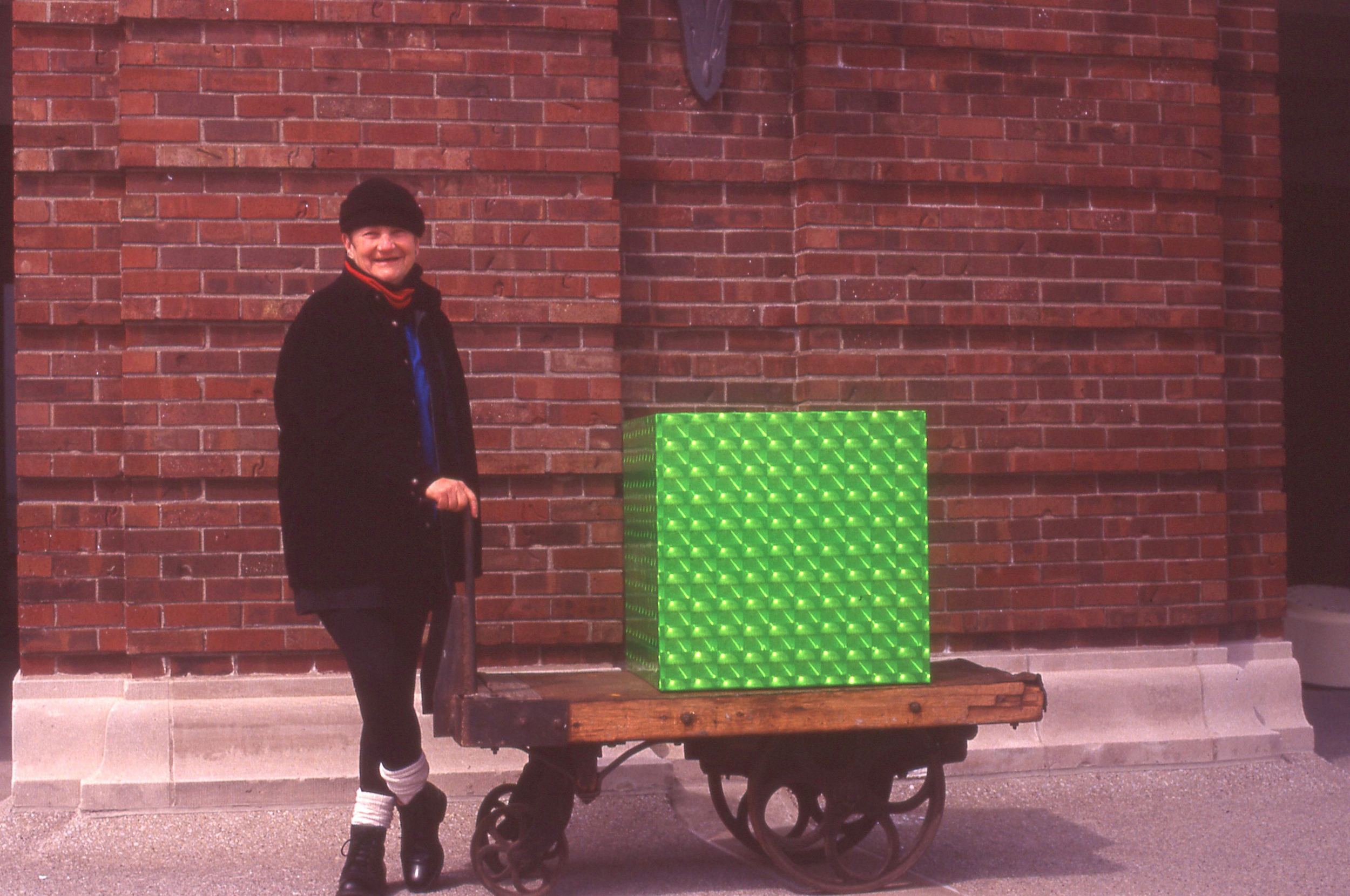 The Gift ,        3'x3' box on cart