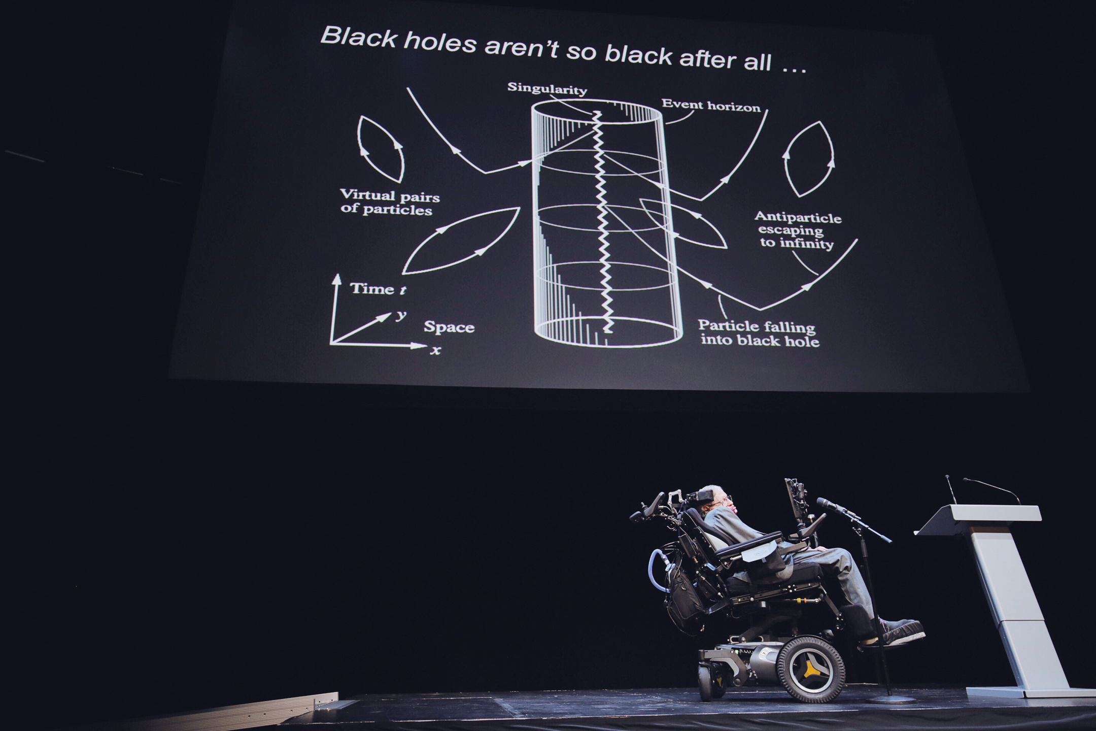 Stephen Hawking revealed his latest idea about where he believes lost information wind up after being sucked into a black hole — in alternative universes. Photo: Adam af Ekenstam
