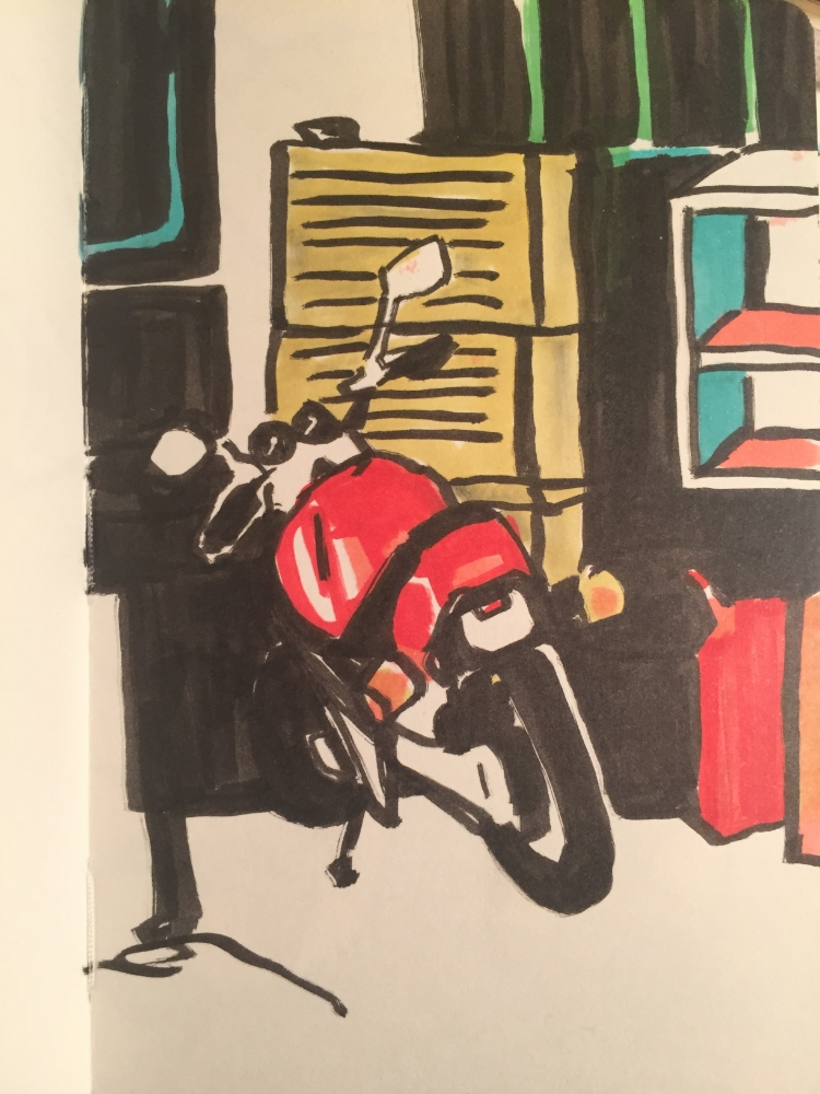Marc's uncle Curtis has this rad bike so I drew it