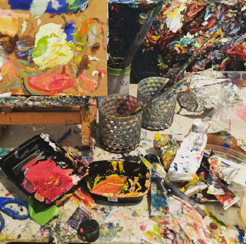 The only thing messier than painting is a critique session.