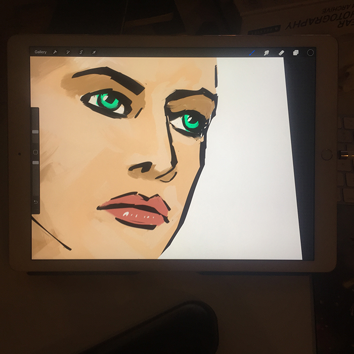 Face Work in Progress on Ipad - art by Becky Jewell.jpg