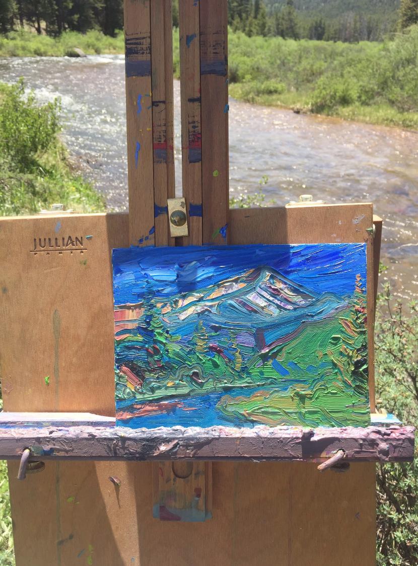 Mt. Elbert painted in plein air