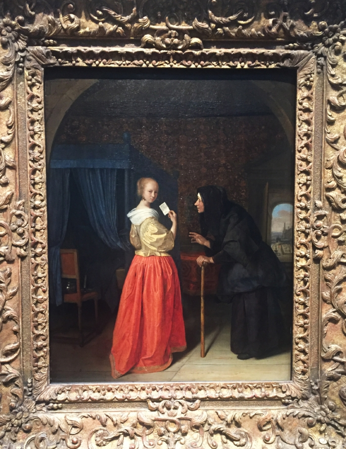 """This was Jan Steen's vision of the Bathsheba tale: """"Bathsheba Receiving David's Letter"""" (b. 1626 - d. 1679) Bathsheba is an old character from an old book, but there are so many ways to reimagine her in new settings."""
