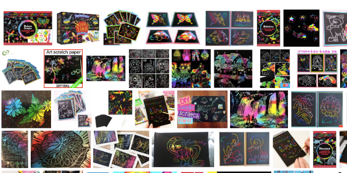 Magic Scratch art, much like Picasso's layering techniques,encourages a love for surprise and the unknown