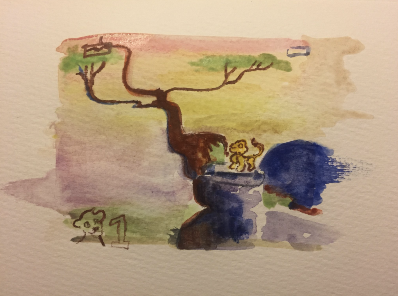 Watercolor - Lion King on Sega Game Gear - Becky Jewell.png